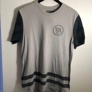 A grey RVCA T-shirt